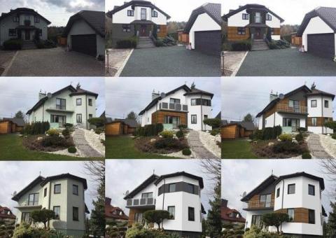 Projekt elewacji / wizualizacja domu / remont / malowanie/ projekty
